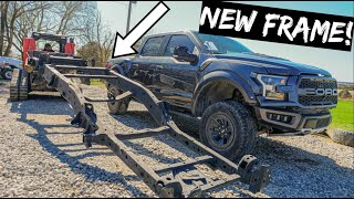 We Bought a New FRAME for Wrecked Ford Raptor.
