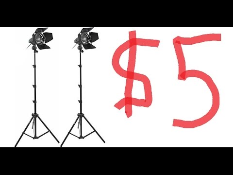 How to make lighting stand under $5