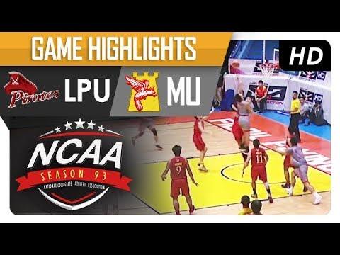 LPU vs. MU | NCAA 93 | MB Game Highlights | September 5, 2017