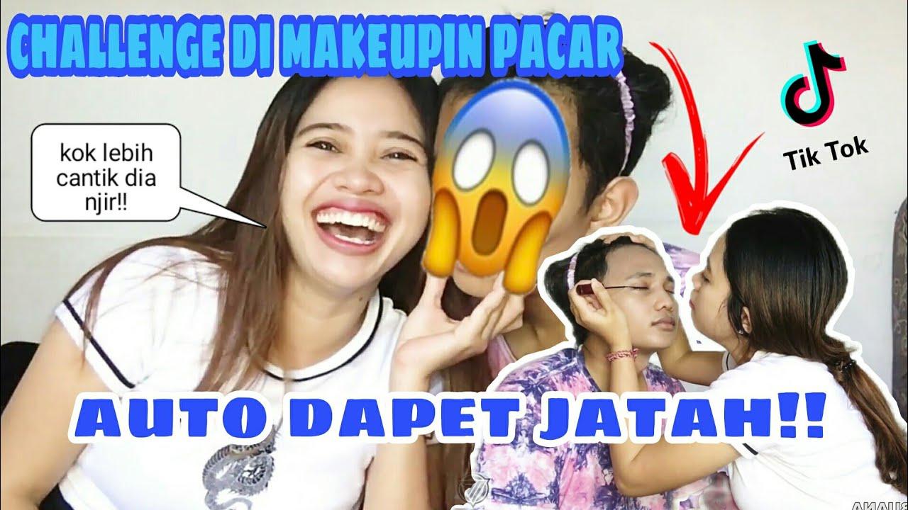CHALLENGE DI MAKEUPIN PACAR AUTO DAPET JATAH!!