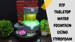 How to Make Wonderful Waterfall Fountain at Home | Amazing DIY Fountain | Beautiful  Water Fountain