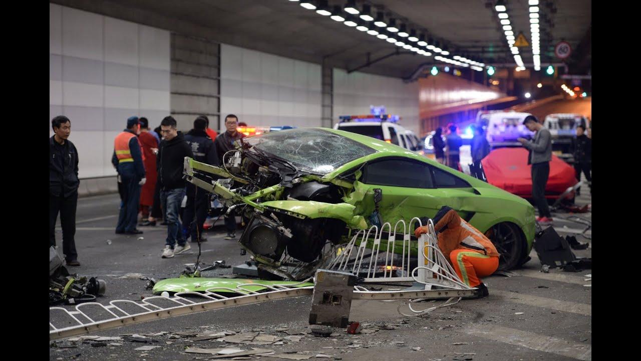 Car Crash Lamborghini And Ferrari In Split Croatia