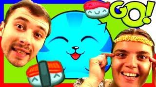 Болтушка и Проходимец ВЕСЕЛЯТСЯ в игре СУШИ КОТ! #263 Мультик ИГРА для детей