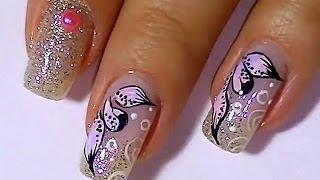 Дизайн ногтей. Рисунки на ногтях: лепестки.(Дизайн ногтей. Рисунки на ногтях: лепестки. Сделанный в домашних условиях дизайн ногтей становится маленьк..., 2014-01-18T09:55:18.000Z)