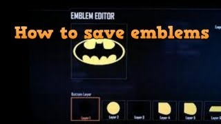 BO2-How to save your emblems to your PC!