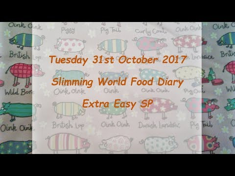 Day 31 #Vlogtober #Onplanoctober Slimming World SP Food Diary Tuesday 31st October 2017