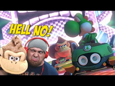 [HILARIOUS!] IF I F#%KING LOSE I HAVE TO.... [MARIO KART 8]