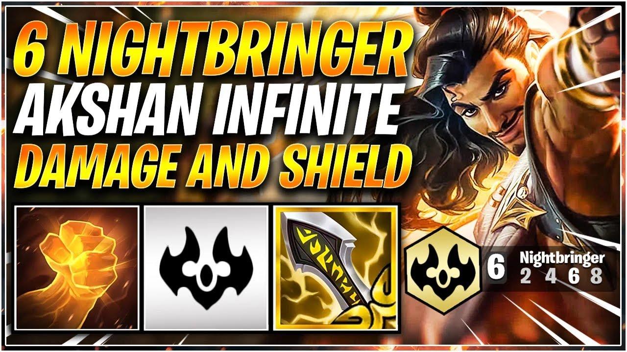 Download 6 NIGHTBRINGERS AKSHAN INFINITE DMG & SHIELD TFT SET 5.5 RANKED I Teamfight Tactics 11.19 emilyywang