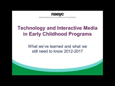 Webinar: Technology and Interactive Media in Early Childhood Programs