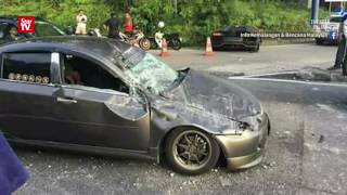 Teen driver hurt, Lamborghini damaged in accident