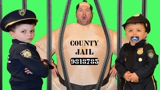 Sumo Ate My Lunch a real life Kid Cop + Superhero Jail Video