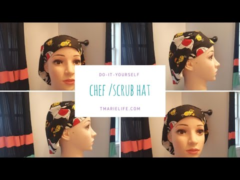 How To Make A Surgical Hat/Chef Hat DIY