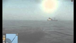 silent hunter 5 sinking cargo ship.