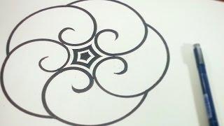 Folding Golden Ratio Spirals Around A Pentagram ✫ [How To]