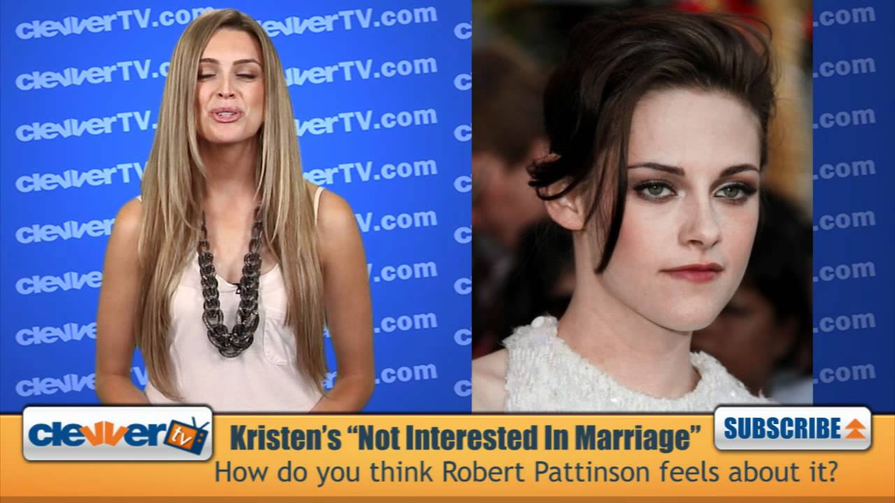 Kristen Stewart Talks Wanting To Marry Ex Robert Pattinson ...