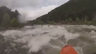 Upper Ocoee R. Whitewater Kayaking Using Hi-N-Dry Rolling Aid - Son