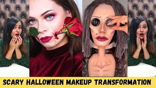 Scary Halloween Makeup Transformation (Tik Tok, 5 Minute Crafts)
