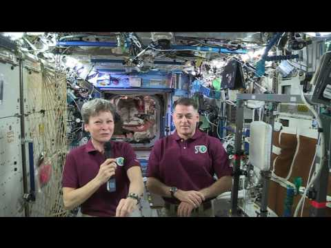 Space Station Crew Members Answer Questions from Social Media Devotees