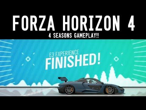 Forza Horizon 4 - ALL 4 SEASONS GAMEPLAY (Mclaren Senna, Ford Fiesta RX, Polaris RZR)