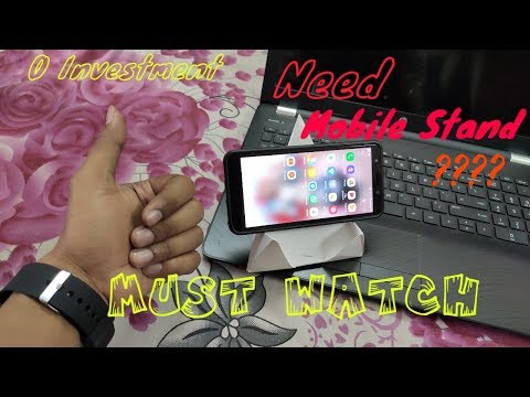 HOW TO MAKE MOBILE STAND   Mobile holder AT HOME   DIY MOBILE STAND   PAPER CRAFT