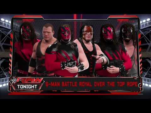 WWE 2K17 6 Man Battle Royal All Kane's