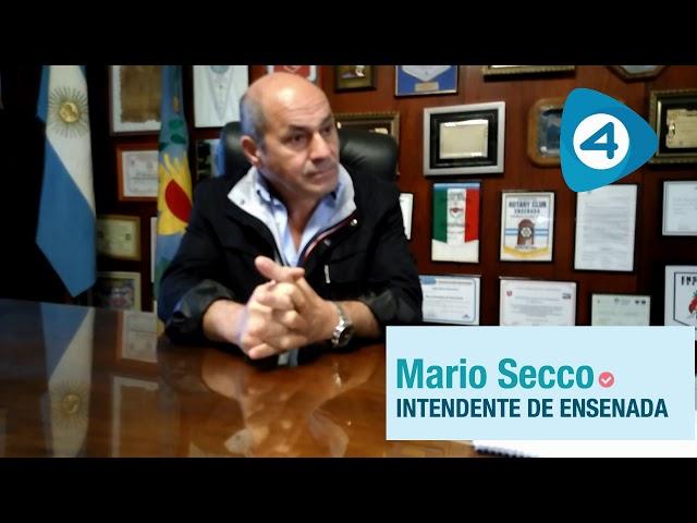 Segunda entrega de la entrevista a Mario Secco, intendente de Ensenada
