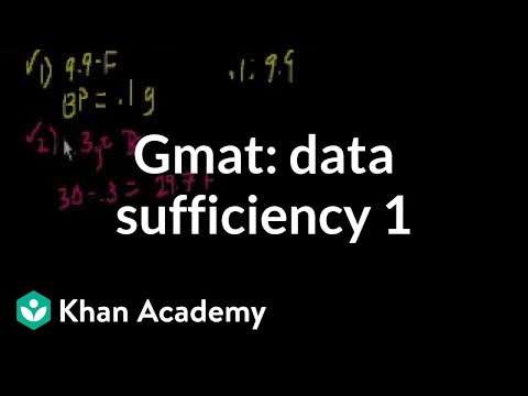 GMAT: Data sufficiency 1 | Data sufficiency | GMAT | Khan Academy