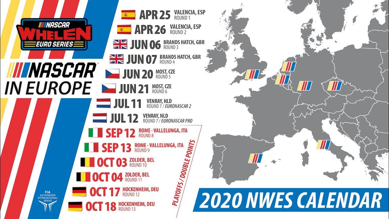 Calendrier Nascar.Home Nascar Whelen Euro Series