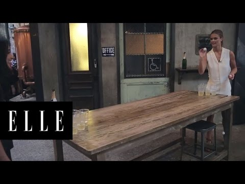Nina Agdal Plays Beer Pong For the First Time | ELLE