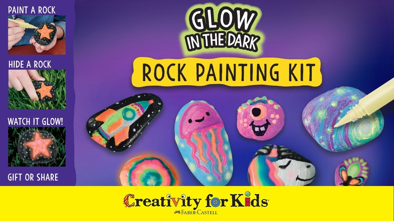 Glow In The Dark Painted Rocks Rock Painting Creativity For Kids Youtube