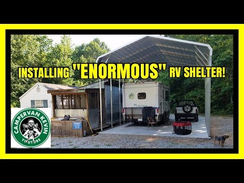 Having Enormous RV Shelter Installed