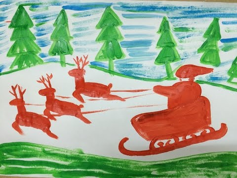 Painting christmas for kids | How to draw santa claus for kids 5 | Art for kids