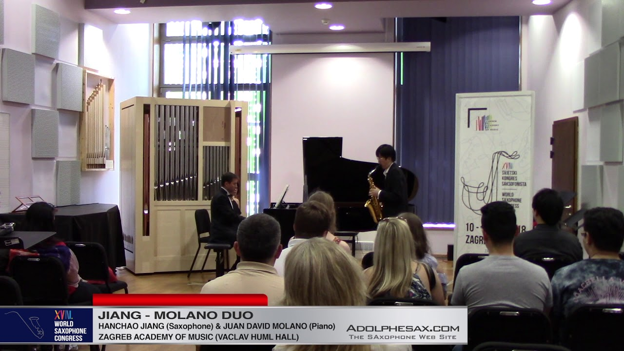 Sonata Nº1 Op 120 by Johannes Brahms   Jiang & Molano Duo  XVIII World Sax Congress 2018 #adolphesax