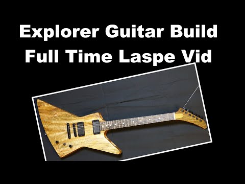 Explorer Guitar Build - Full Process From Slab to Sound Clip - Mango and Black Palmwood