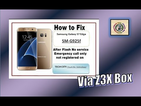 """How To Repair """"emergency Calls Only"""" Samsung S6 Edge SM-G925F With Z3X BOX"""