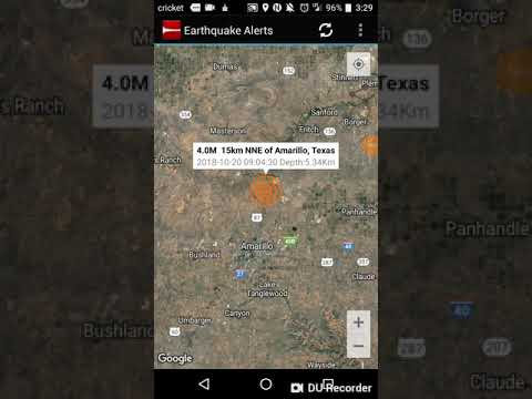 Odd Earthquake Locations: October 20th, 2018 Amarillo, Texas