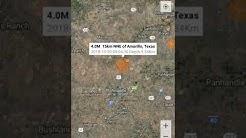 Odd Earthquake Locations: October 20th, 2018 Amarillo, Texas