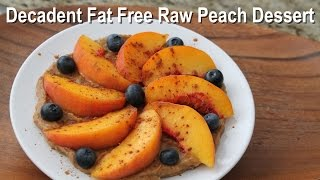 Decadent Peach Dessert Recipe *Fat Free