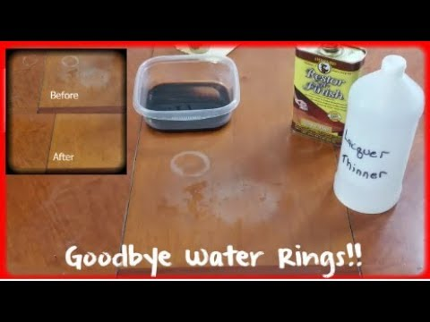 Removing White Water Rings And Heat Stains From Wood Furniture | The Ultimate Guide