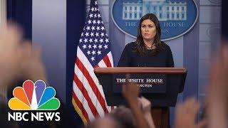 White House Press Briefing - August 1, 2018 | NBC News