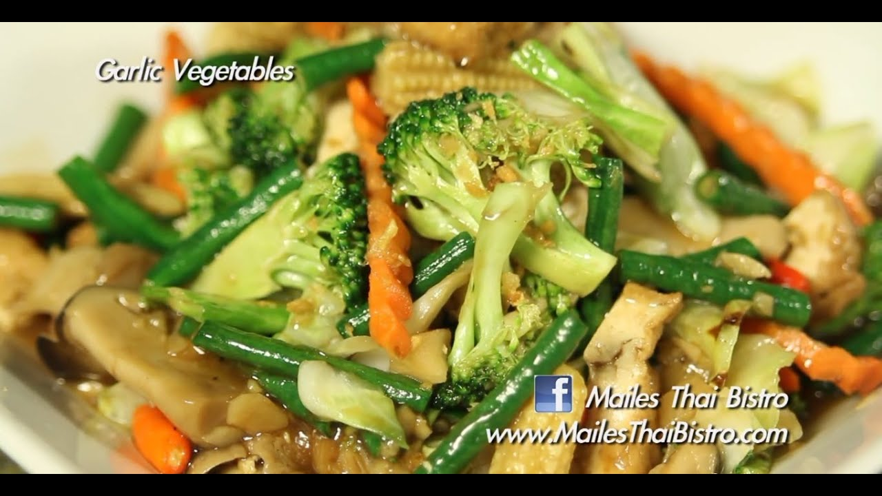 Garlic vegetable stir fry in the kitchen with maile youtube forumfinder Image collections