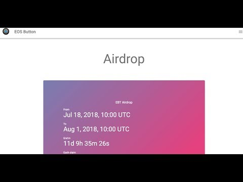 EOS dApps, Airdrops for new EOS accounts, and bitcoin dominance in market cap