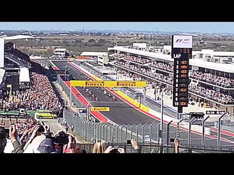 Formula1 start Circuit of The Americas, Austin Texas