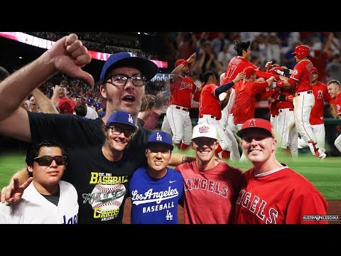 ANGELS LEAVE THE DODGERS AND SOFTBALL CREW SPEECHLESS! | Kleschka Vlogs