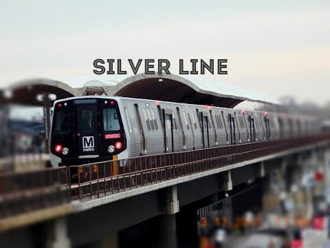 🚇/💺 WMATA Metrorail: Silver Line (SV) to Wiehle-Reston East... FULL RIDE!