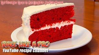 Easy Red Velvet Cake Recipe By BakeLikeAPro