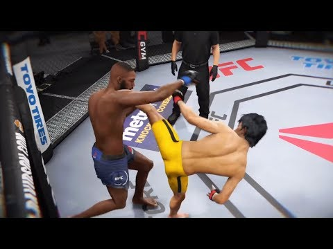 Bruce Lee vs. Jon Jones (EA Sports UFC 3) - CPU vs. CPU