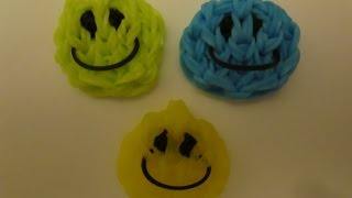 Rainbow Loom Happy Face and Smiley Face Charm. Easy