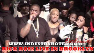 "Rick Ross LIVE in Brooklyn Pt. 5 0f 9 ""Aston Martin Music"" Industryhotel.com"