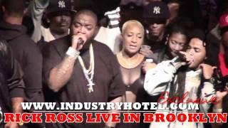 "Rick Ross LIVE in Brooklyn Pt. 5 0f 9 ""Aston Martin Music"" Industryhotel.com"